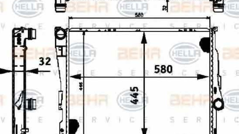 Radiator apa racire motor BMW Z4 E85 HELLA 8MK 376 716-261