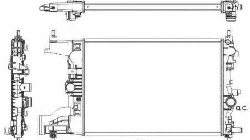 Radiator apa racire motor CHEVROLET CRUZE J300 NRF 53155
