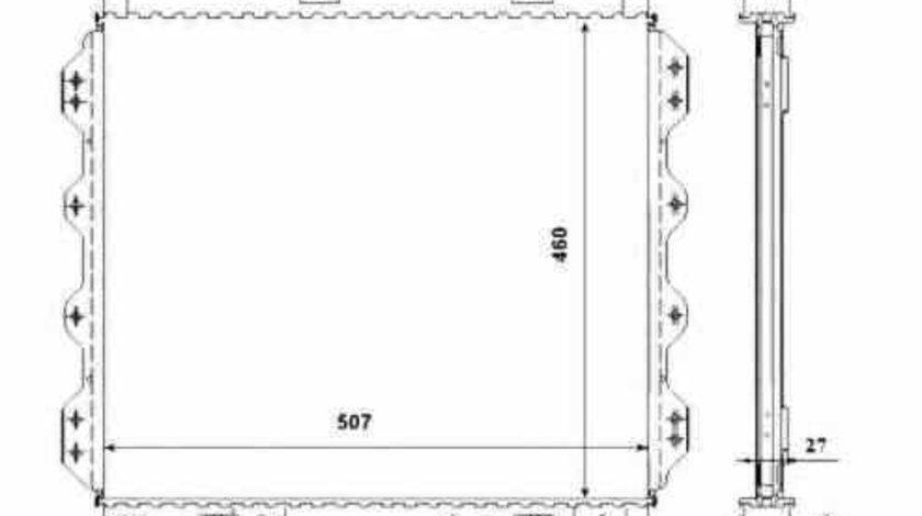 Radiator apa racire motor CHRYSLER PT CRUISER Cabriolet NRF 53337