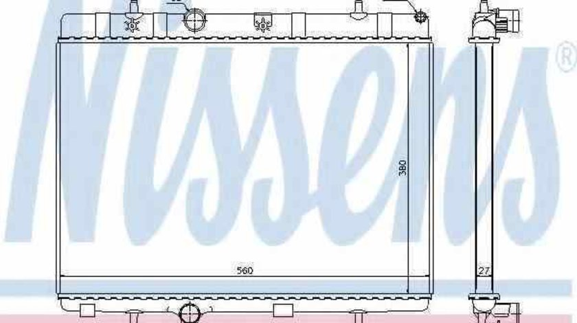 Radiator apa racire motor CITROËN C3 I (FC_) Producator NISSENS 636007