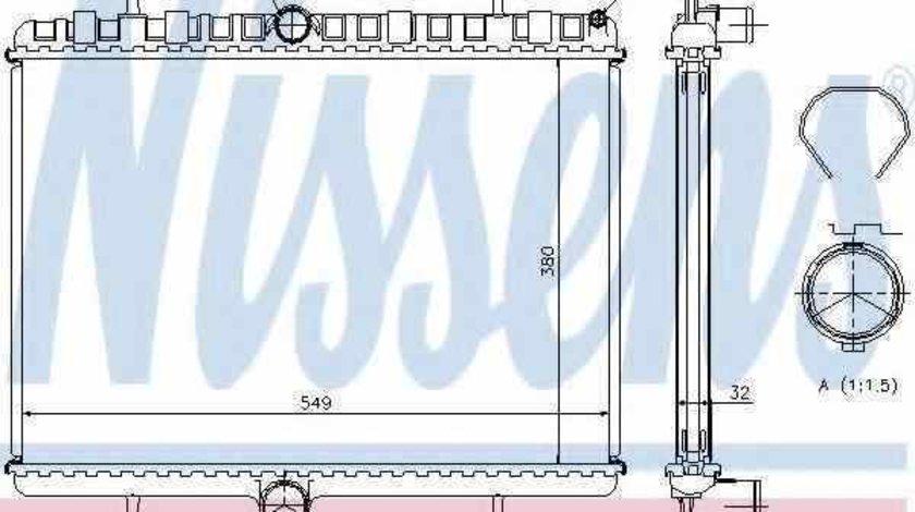 Radiator apa racire motor CITROËN JUMPY NISSENS 63621A
