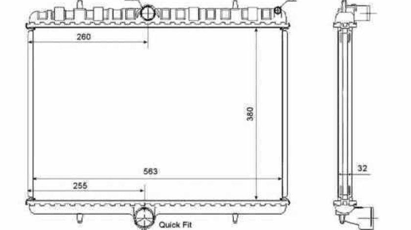 Radiator apa racire motor CITROËN JUMPY NRF 53861