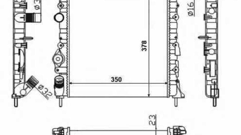 Radiator apa racire motor DACIA LOGAN EXPRESS FS NRF 58023