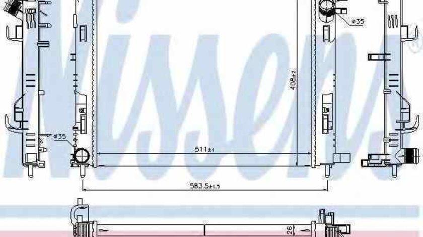 Radiator apa racire motor DACIA LOGAN II NISSENS 637624