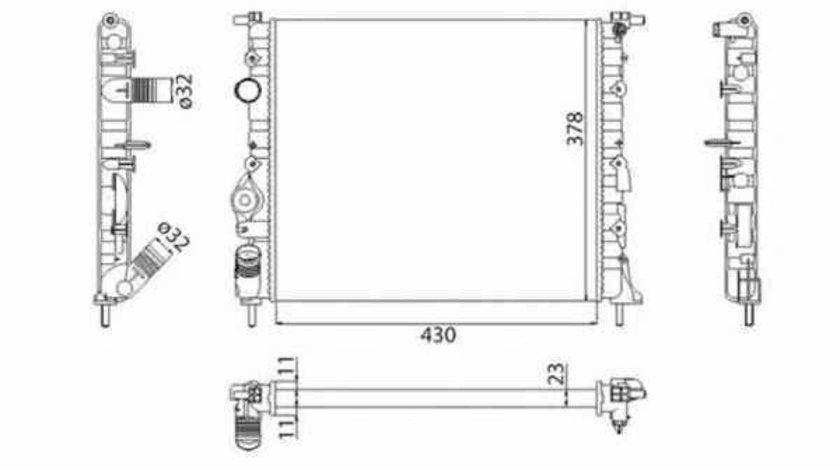 Radiator apa racire motor DACIA LOGAN LS MAGNETI MARELLI 350213261003