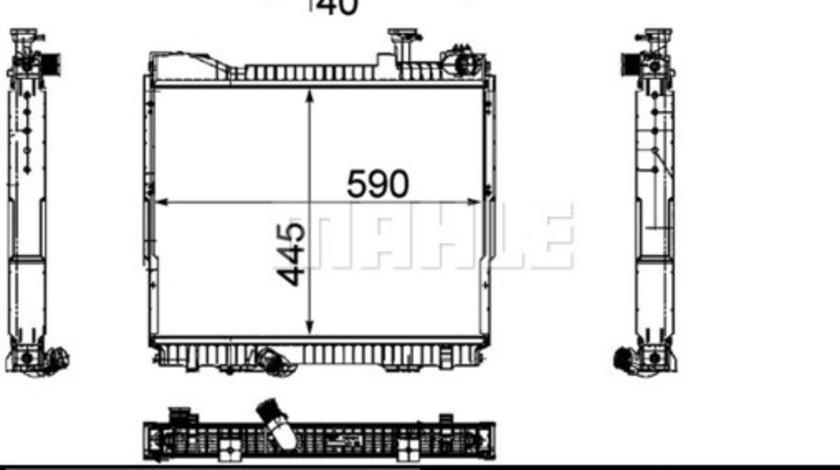Radiator apa racire motor (fara cadru) NISSAN ATLEON, CABSTAR, NT400 CABSTAR B660N-ZD30HHD-5 dupa 2000