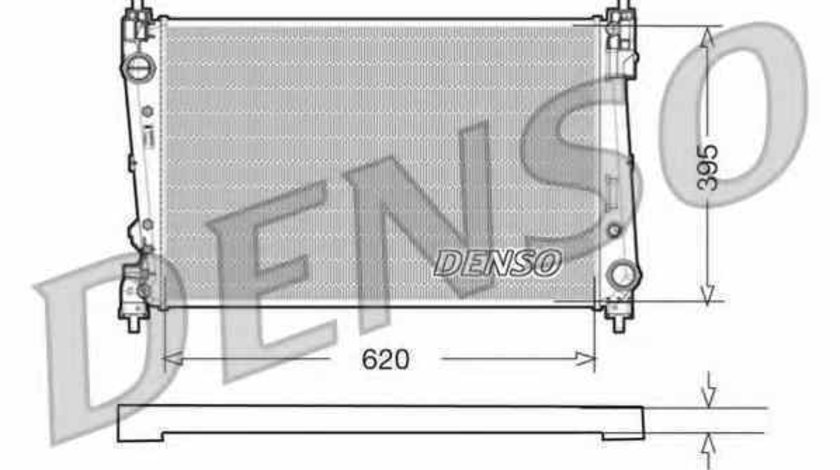 Radiator apa racire motor FIAT BRAVO II 198 Producator DENSO DRM09112