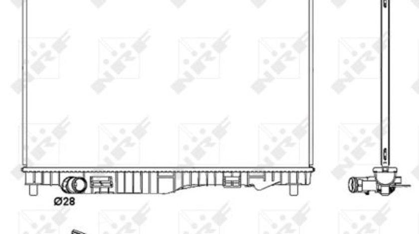 Radiator apa racire motor FORD B-MAX, ECOSPORT, FIESTA V, FIESTA VI, KA+, TOURNEO COURIER B460, TRANSIT COURIER B460 1.4D-1.6 d dupa 2007