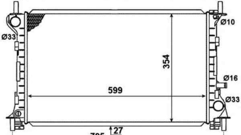 Radiator apa racire motor FORD FOCUS (DAW, DBW) NRF 58375