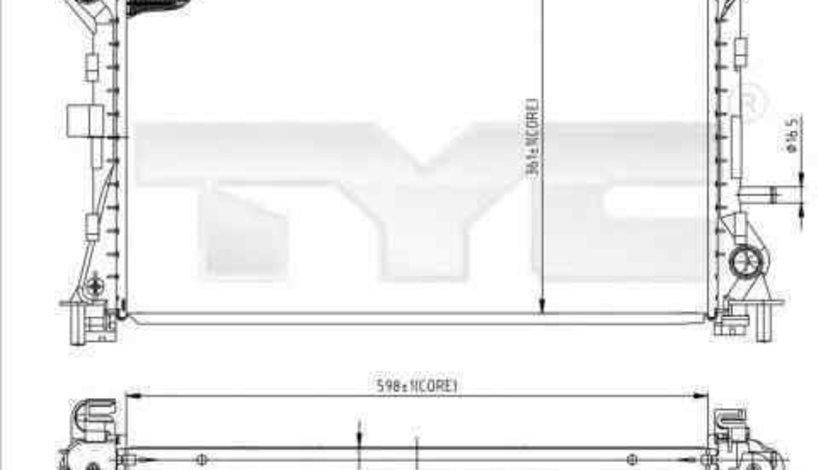 Radiator apa racire motor FORD FOCUS (DAW, DBW) TYC 710-0052