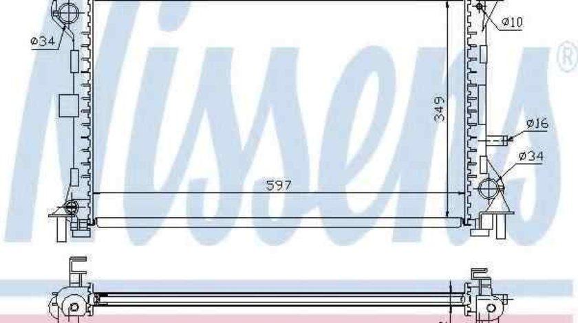 Radiator apa racire motor FORD FOCUS (DAW, DBW) NISSENS 62075A
