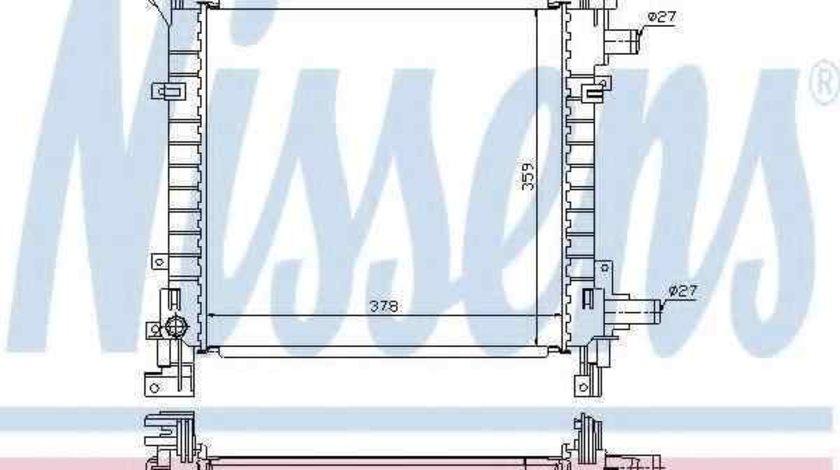 Radiator apa racire motor FORD KA (RB_) NISSENS 62083A