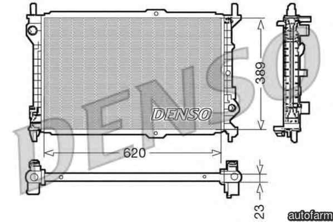 Radiator apa racire motor FORD TOURNEO CONNECT Producator DENSO DRM10107