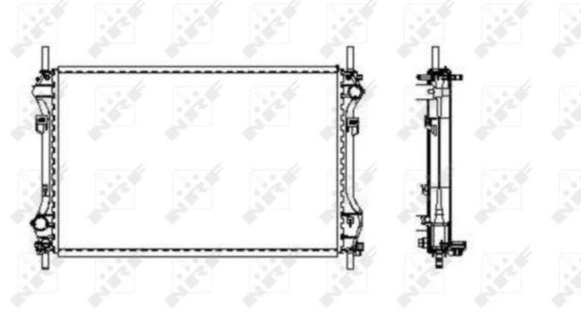 Radiator apa racire motor FORD TRANSIT 2.4D intre 2000-2006