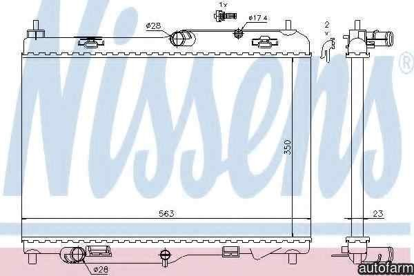 Radiator apa racire motor FORD TRANSIT COURIER caroserie NISSENS 69233