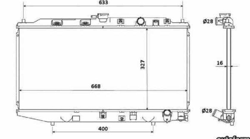 Radiator apa racire motor HONDA CIVIC IV limuzina ED NRF 506728