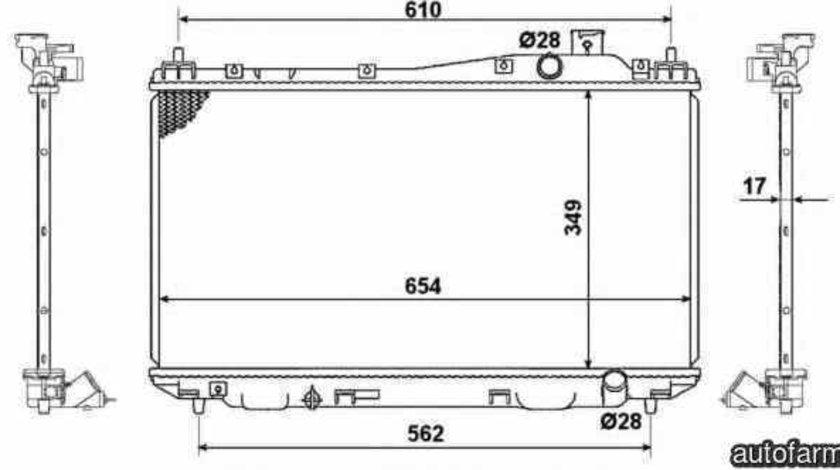 Radiator apa racire motor HONDA CIVIC VII Hatchback EU EP EV NRF 53440