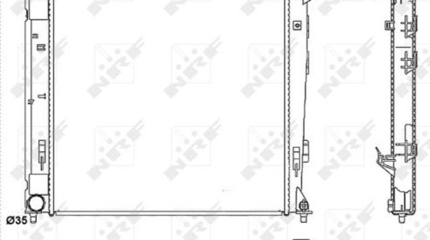 Radiator apa racire motor HYUNDAI IX35; KIA SPORTAGE 1.7D 2.0 d dupa 2010