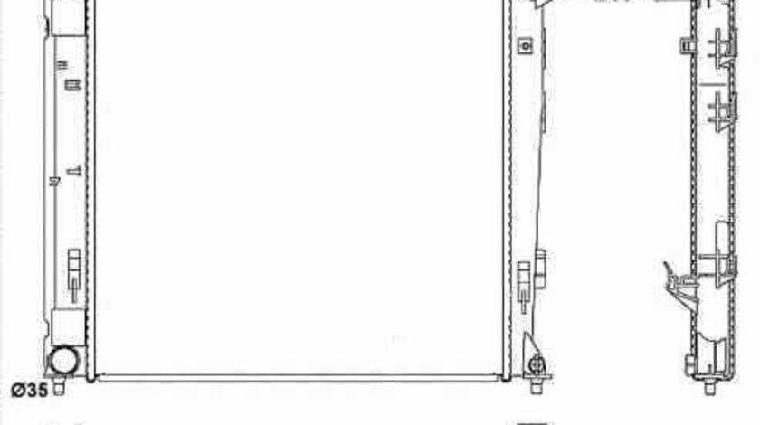 Radiator apa racire motor KIA SPORTAGE SL NRF 53054