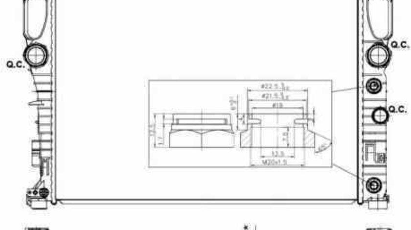 Radiator apa racire motor MERCEDES-BENZ CLS C219 NRF 53423