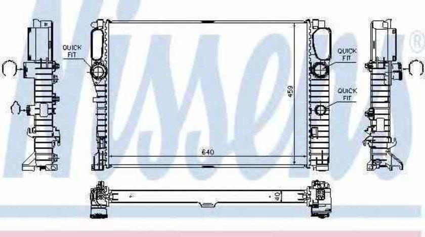 Radiator apa racire motor MERCEDES-BENZ CLS C219 Producator NISSENS 62796A