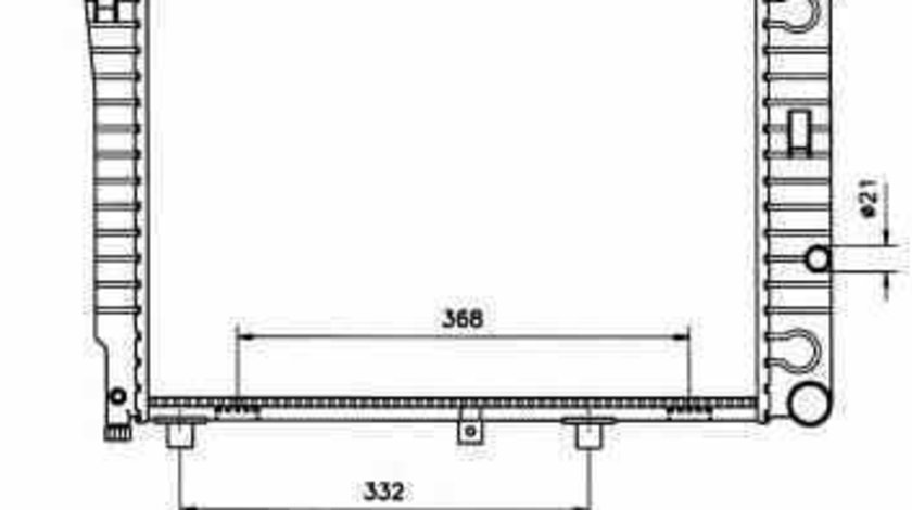 Radiator apa racire motor MERCEDES-BENZ limuzina W124 NRF 50533