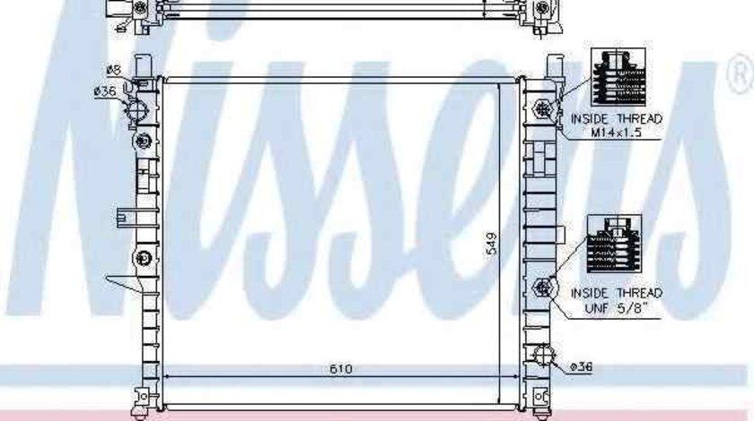 Radiator apa racire motor MERCEDES-BENZ M-CLASS (W163) NISSENS 62788A