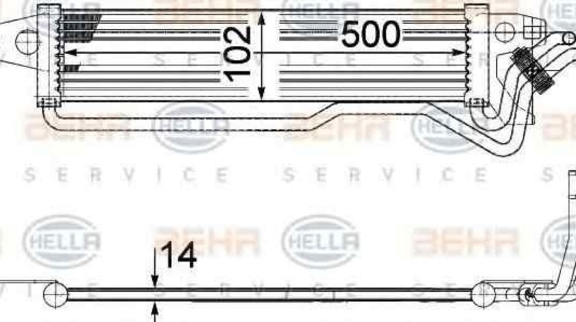 Radiator apa racire motor MERCEDES-BENZ M-CLASS (W164) HELLA 8MK 376 749-811