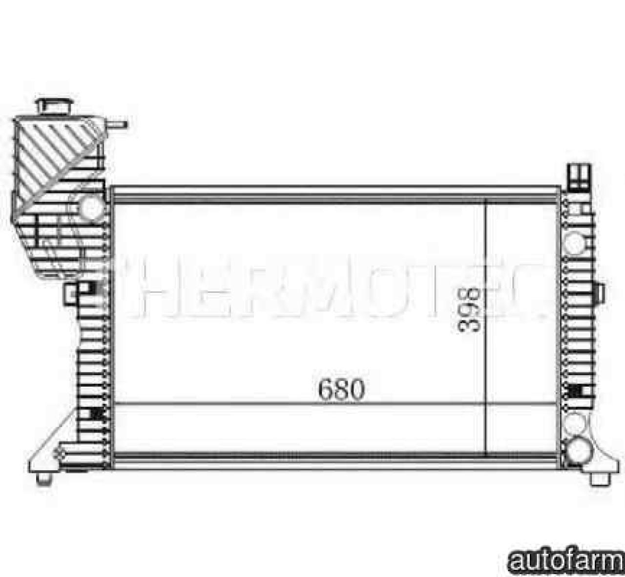Radiator apa racire motor MERCEDES-BENZ SPRINTER 4-t platou / sasiu 904 Producator THERMOTEC D7M004TT