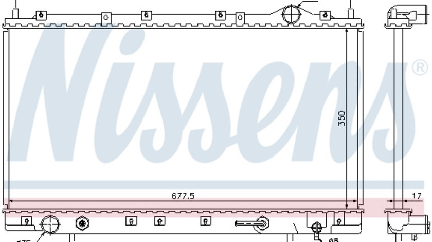 Radiator apa racire motor MITSUBISHI ECLIPSE II 2.0 intre 1995-1999
