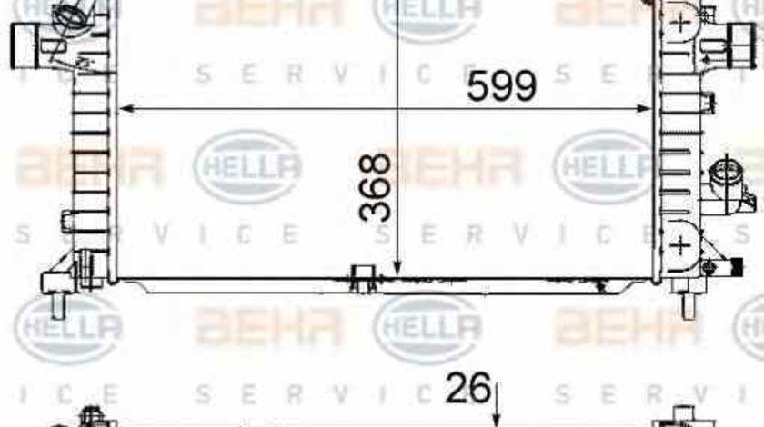 Radiator apa racire motor OPEL ASTRA H caroserie L70 HELLA 8MK 376 745-791