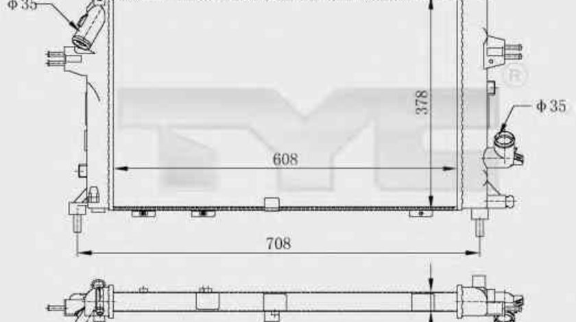 Radiator apa racire motor OPEL ASTRA H combi (L35) TYC 725-0028-R