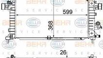 Radiator apa racire motor OPEL ASTRA H L48 HELLA 8...