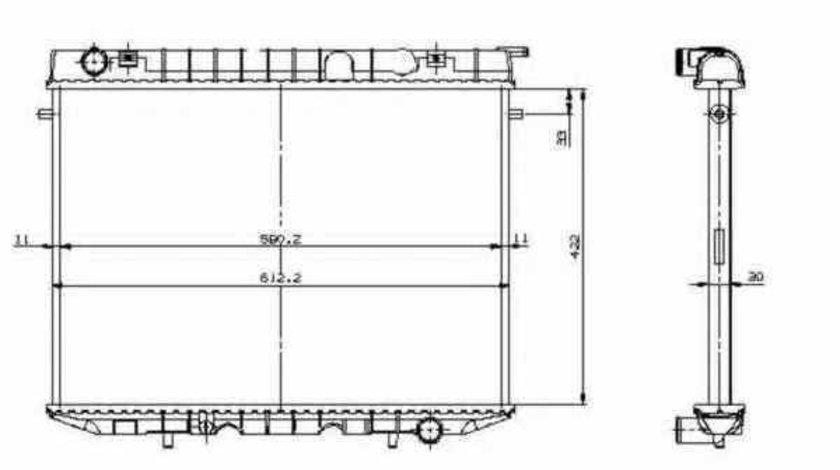 Radiator apa racire motor OPEL FRONTERA A 5MWL4 NRF 519532