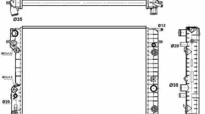 Radiator apa racire motor OPEL OMEGA B 25 26 27 NRF 529689
