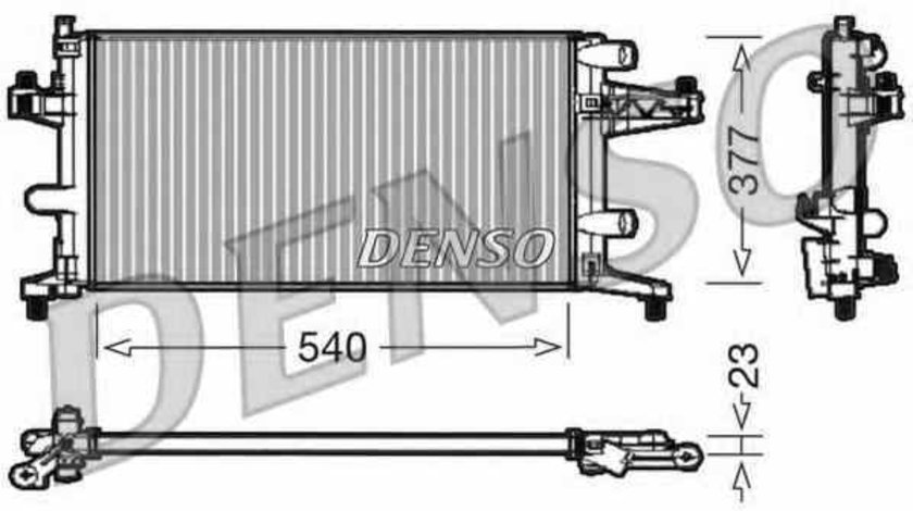 Radiator apa racire motor OPEL TIGRA TwinTop Producator DENSO DRM20040