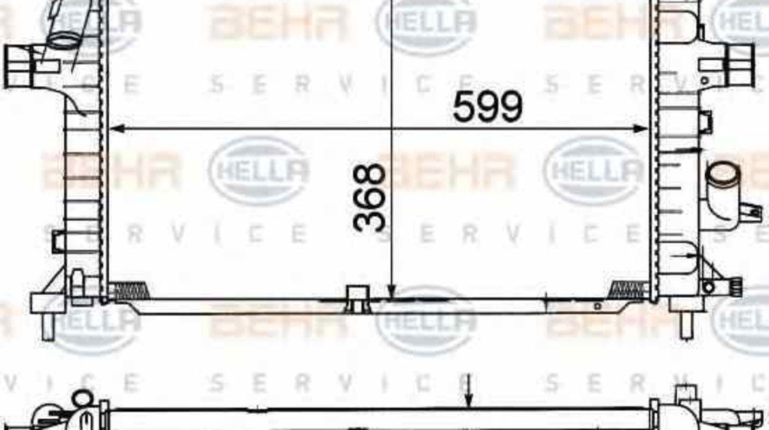 Radiator apa racire motor OPEL ZAFIRA B A05 HELLA 8MK 376 781-041