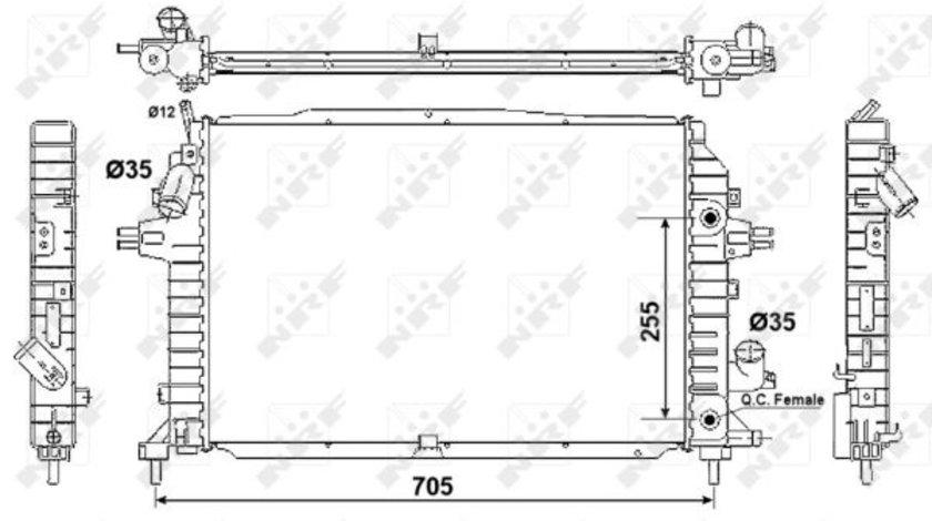 Radiator apa racire motor OPEL ZAFIRA / ZAFIRA FAMILY B, ZAFIRA B 1.7D/1.9/2.0 intre 2005-2015