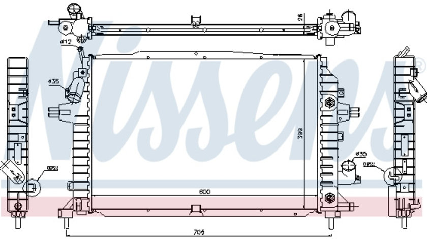 Radiator apa racire motor OPEL ZAFIRA / ZAFIRA FAMILY B, ZAFIRA B 1.9 intre 2005-2015