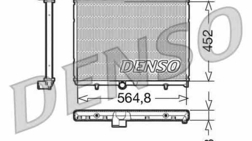 Radiator apa racire motor PEUGEOT 407 6D Producator DENSO DRM21057