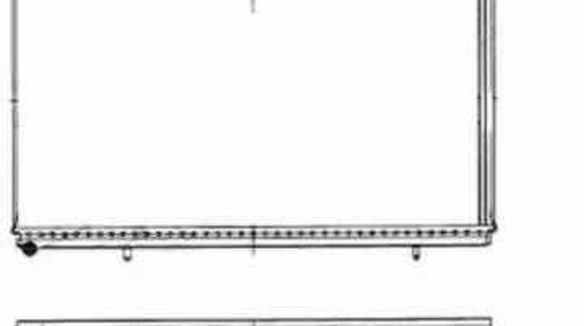 Radiator apa racire motor PEUGEOT 607 9D 9U NRF 50443