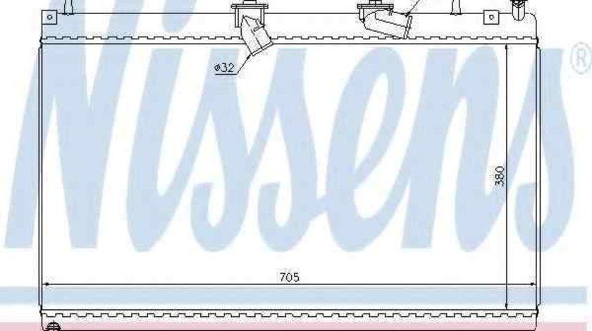 Radiator apa racire motor PEUGEOT 607 (9D, 9U) NISSENS 63619
