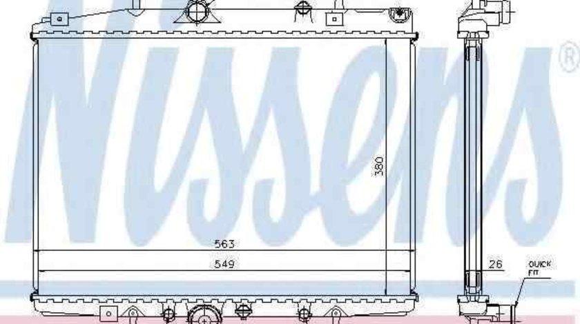 Radiator apa racire motor PEUGEOT 607 (9D, 9U) NISSENS 63702