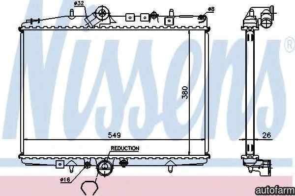 Radiator apa racire motor PEUGEOT 607 (9D, 9U) NISSENS 61295A