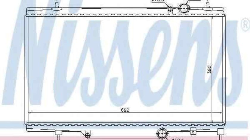 Radiator apa racire motor PEUGEOT 607 (9D, 9U) NISSENS 61297