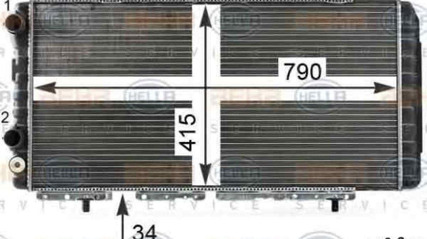 Radiator apa racire motor PEUGEOT BOXER bus 230P HELLA 8MK 376 700-554