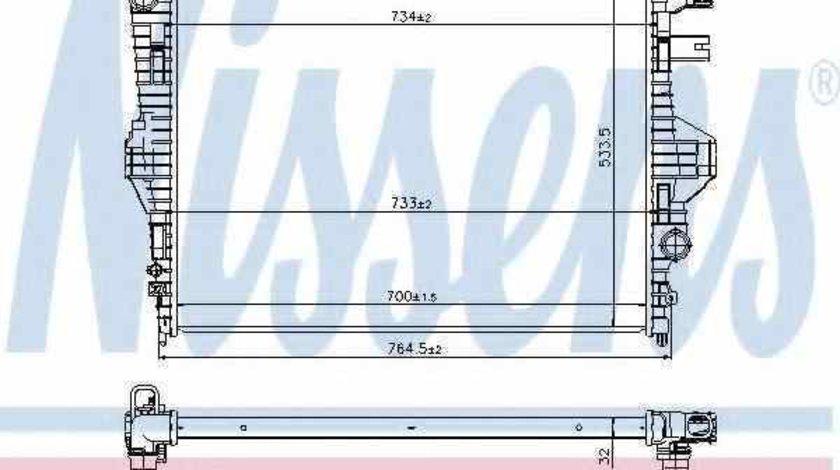 Radiator apa racire motor PORSCHE CAYENNE Producator NISSENS 65297
