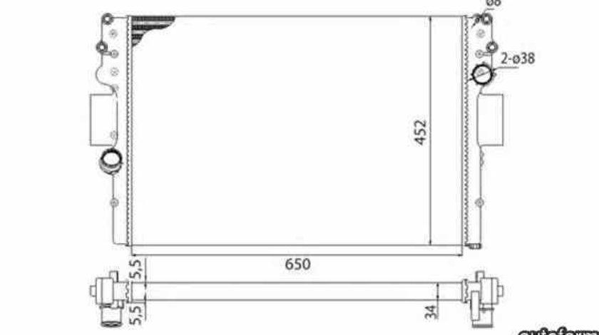 Radiator apa racire motor Producator MAGNETI MARELLI 350213016003