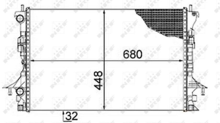 Radiator apa racire motor RENAULT ESPACE IV, LAGUNA II 1.9 2.0 d 2.2D dupa 2005