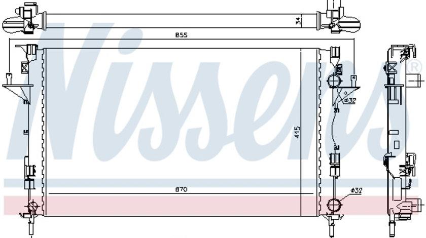 Radiator apa racire motor RENAULT ESPACE IV, LAGUNA II, VEL SATIS 1.9 2.0 2.2D dupa 2001